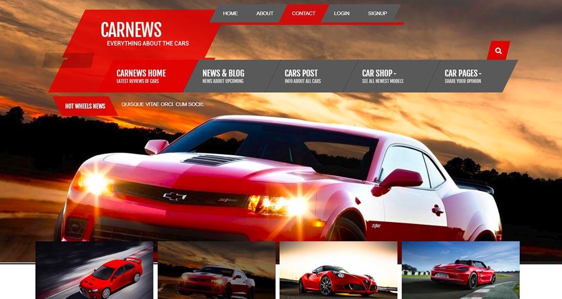 Car News - HTML for Car Website News Template