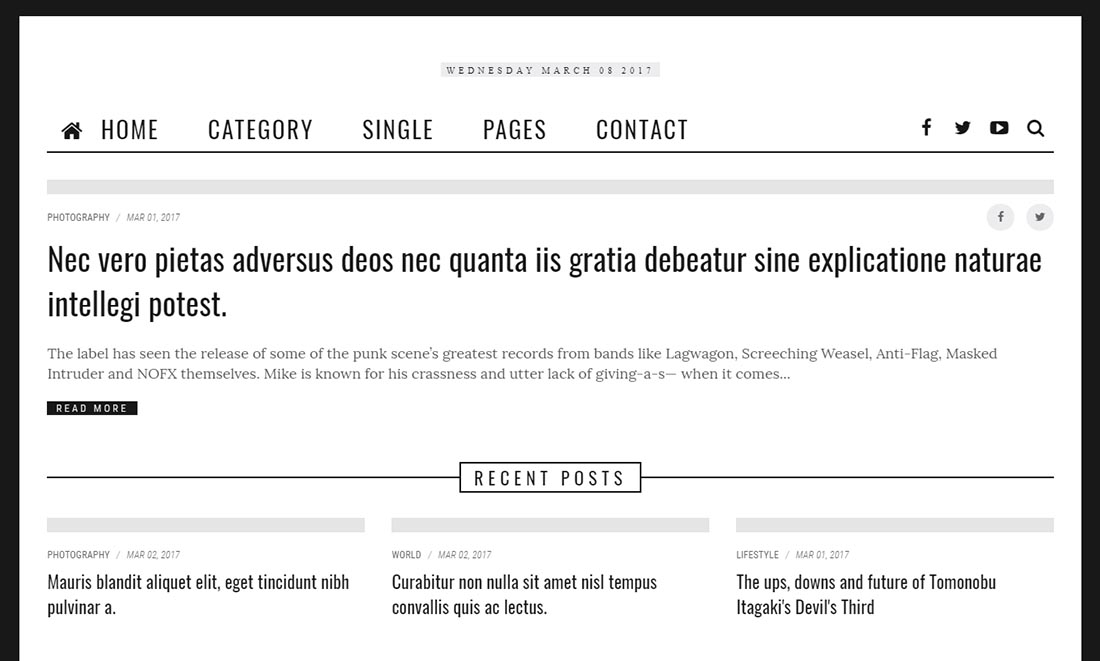 CIZ NEWS - Magazine, Blog & News HTML5 Template