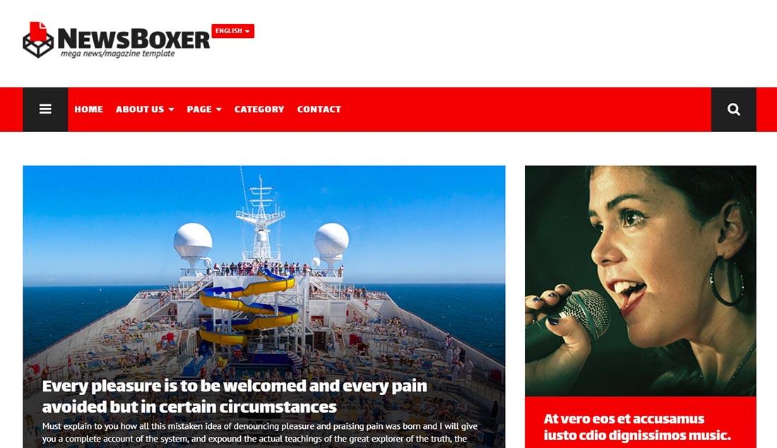 NewsBoxer - Mega News Magazine Template