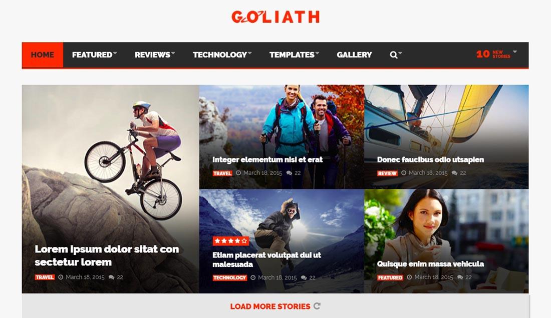 GOLIATH - News & Reviews Magazine Template