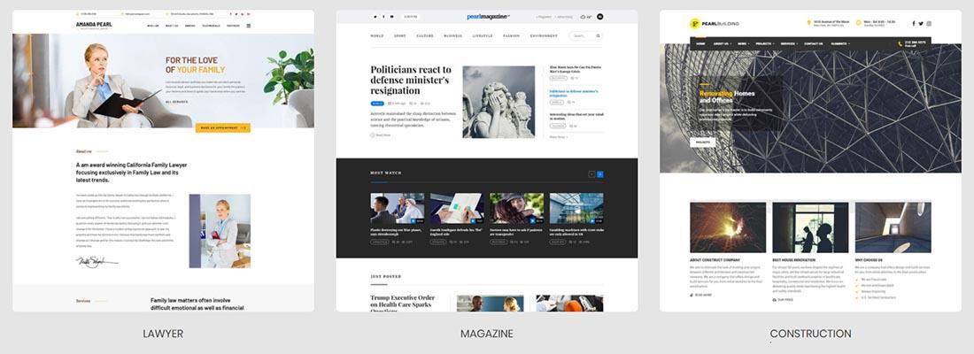 Pearl - Premium Business multi-industry WordPress Theme