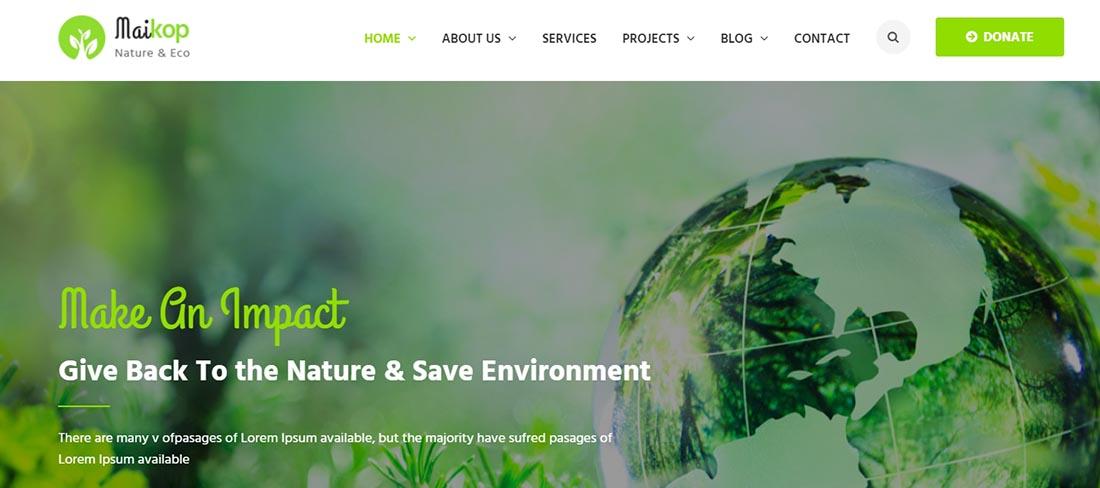 Maikop - Non Profit Website Template
