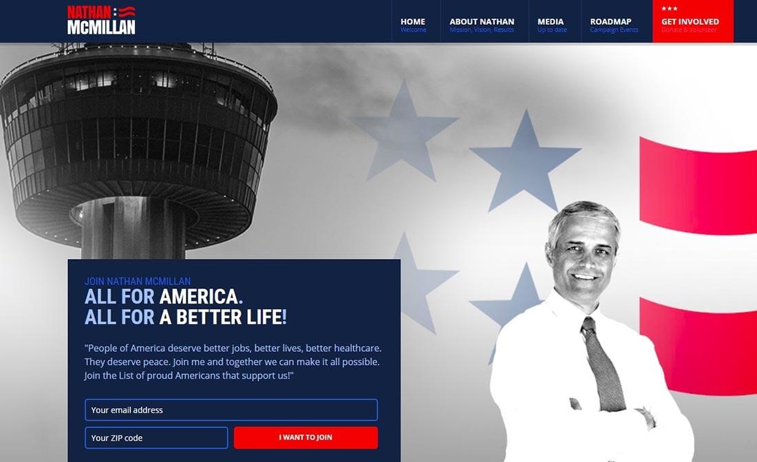 Electoral Non Profit Website Template