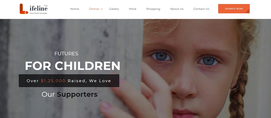 Lifeline 2 Non Profit Website Template