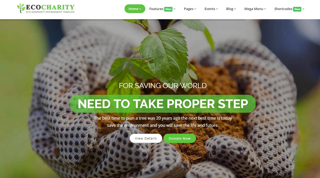 Ecocharity Non Profit Website Template