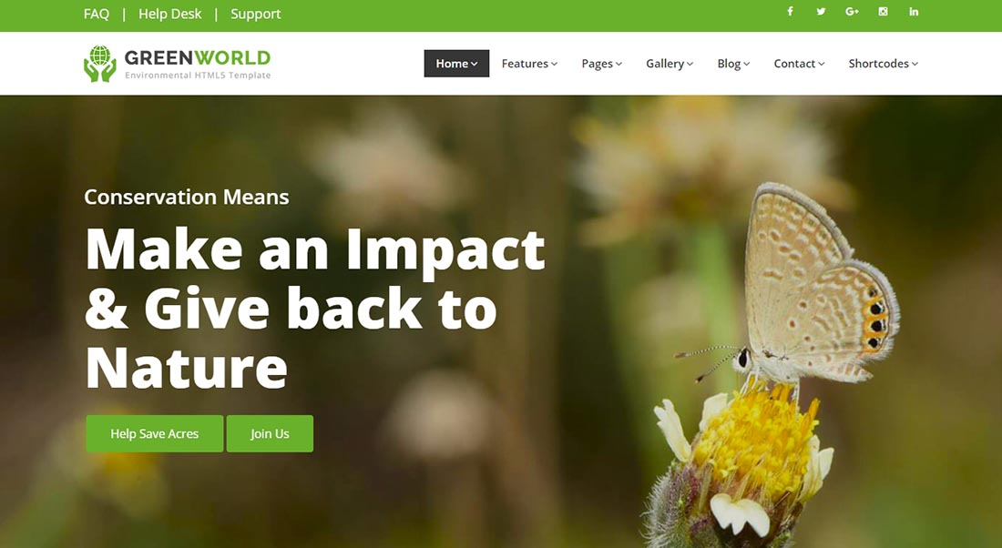 GreenWorld - Non Profit Website Template