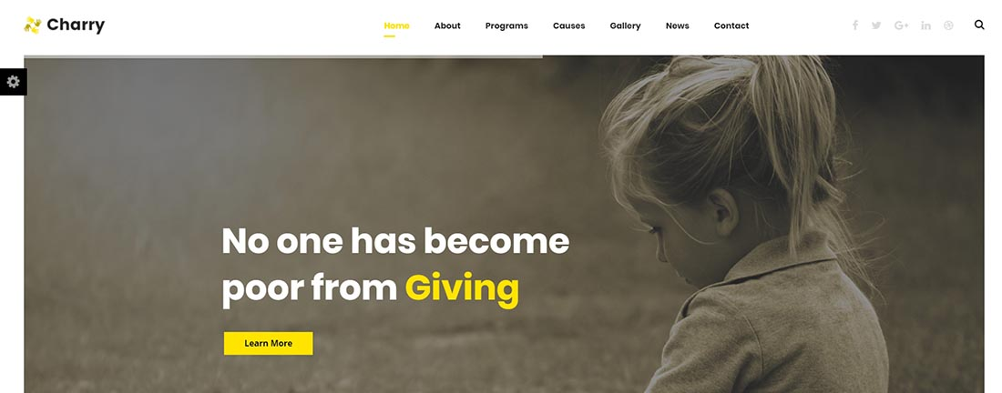 Charry Non Profit Website Template