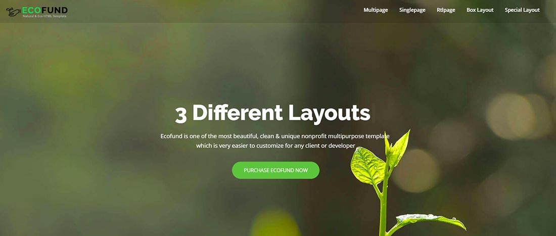 Eco Environment Non Profit Website Template