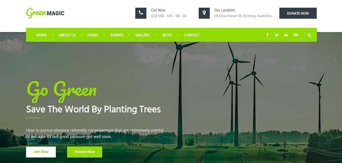 Green Magic Non Profit Website Template