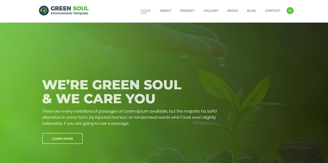 Green Soul Non Profit Website Template