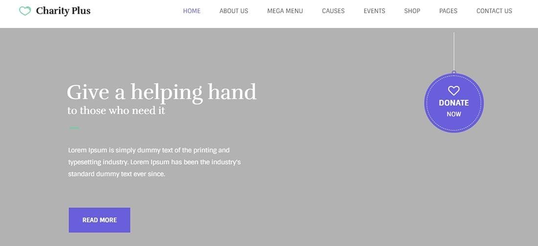 CharityPlus - Non Profit WordPress Theme