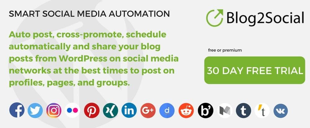 Blog2social WP Plug-in
