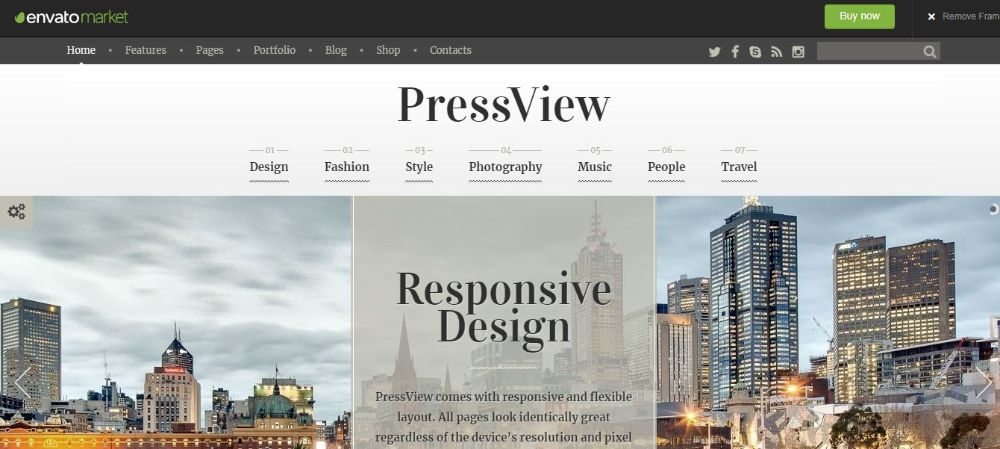 PressView - Vintage and Stylish Magazine Template