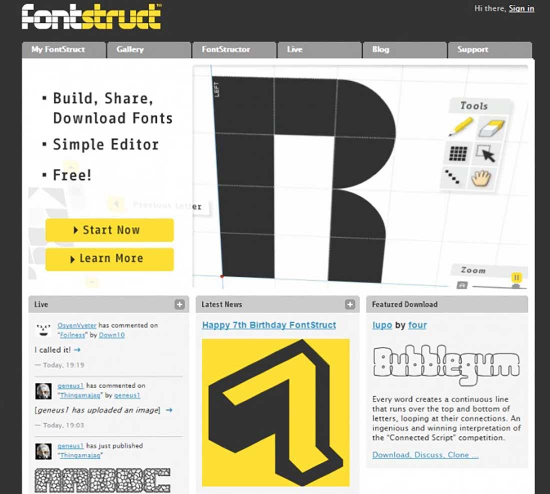 13 FontStruct Font Detector Tool