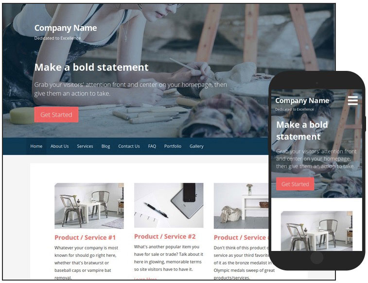 14 Primer Artist WordPress Theme