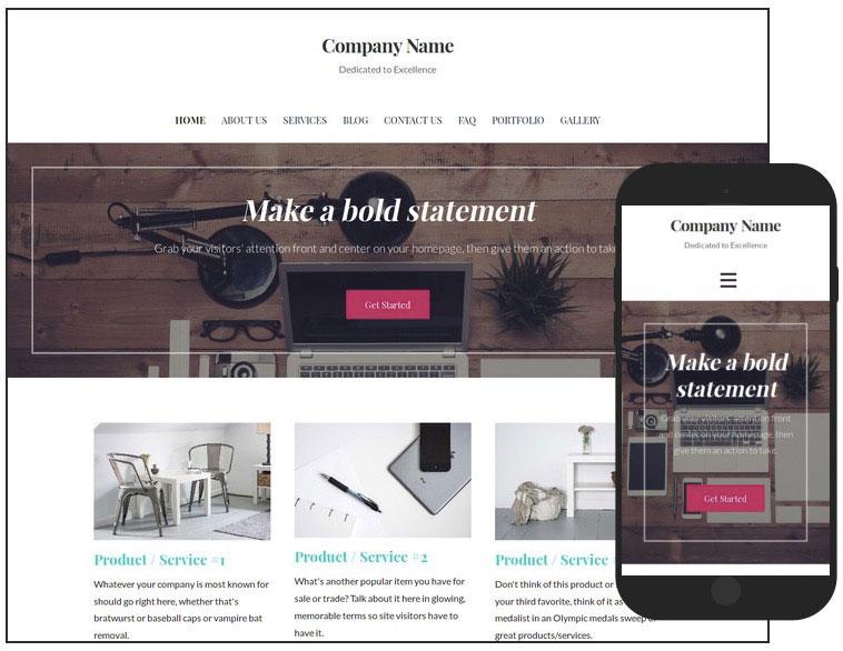 5 Uptown Style Web Design WordPress Theme