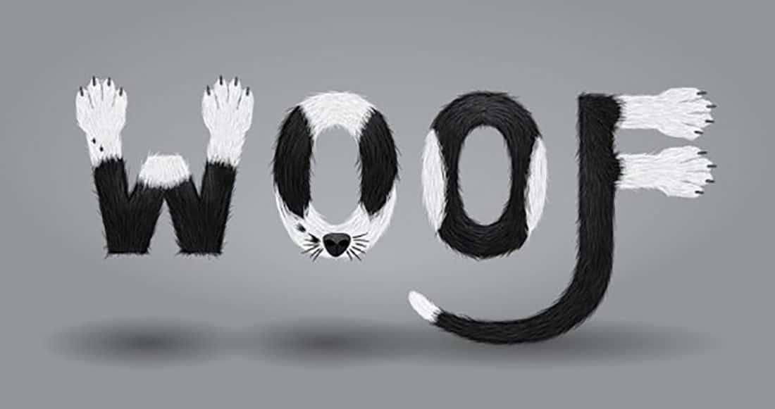 6 Create a Furry Calligram