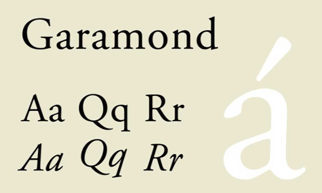 19 Garamond Worst Font