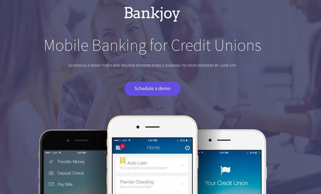 1 Bankjoy Landing Page Examples