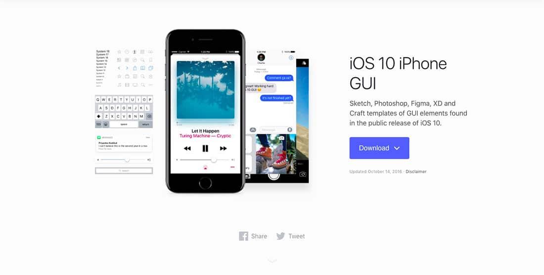 11 Facebook iOS 10 UI kit UI components