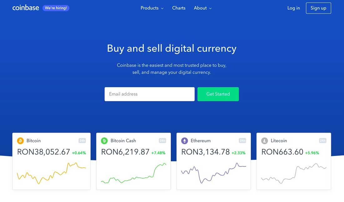 13 Coinbase Landing Page