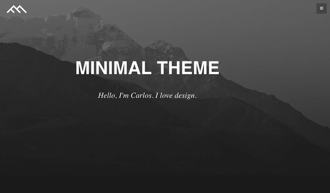 14 Minimal Dark Free Boostrap Theme