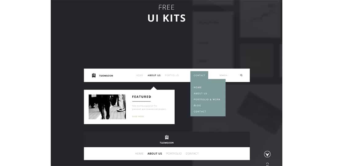 15 55+ Elements UI kit for building websites