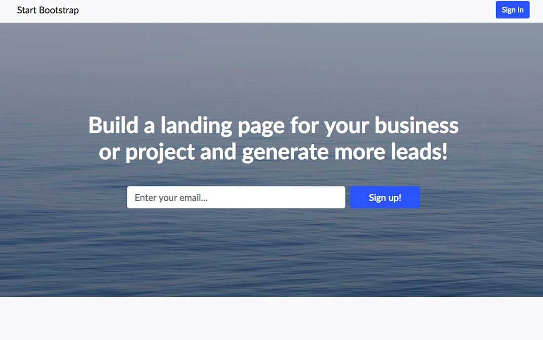 15 Landing Page Free Boostrap Theme