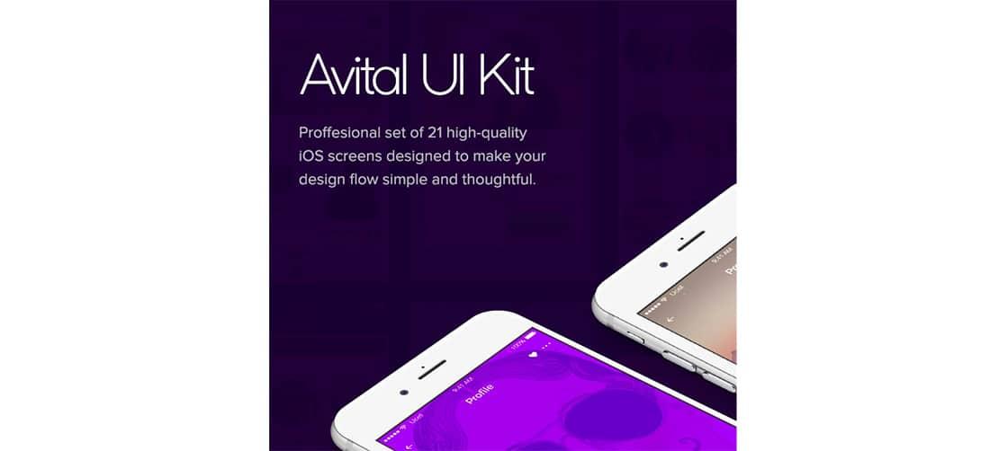 16 Avital- Free UI kit for mobile apps