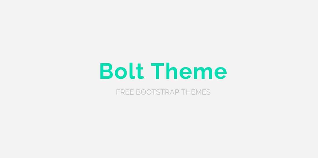 18 Bolt Free Boostrap Theme