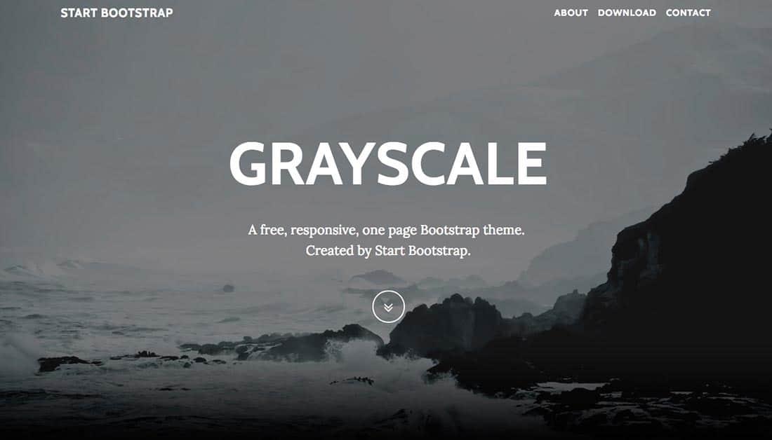 19 Grayscale Free Boostrap Theme