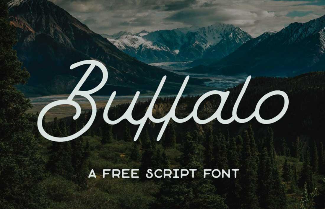 20 Buffalo Contemporary Font