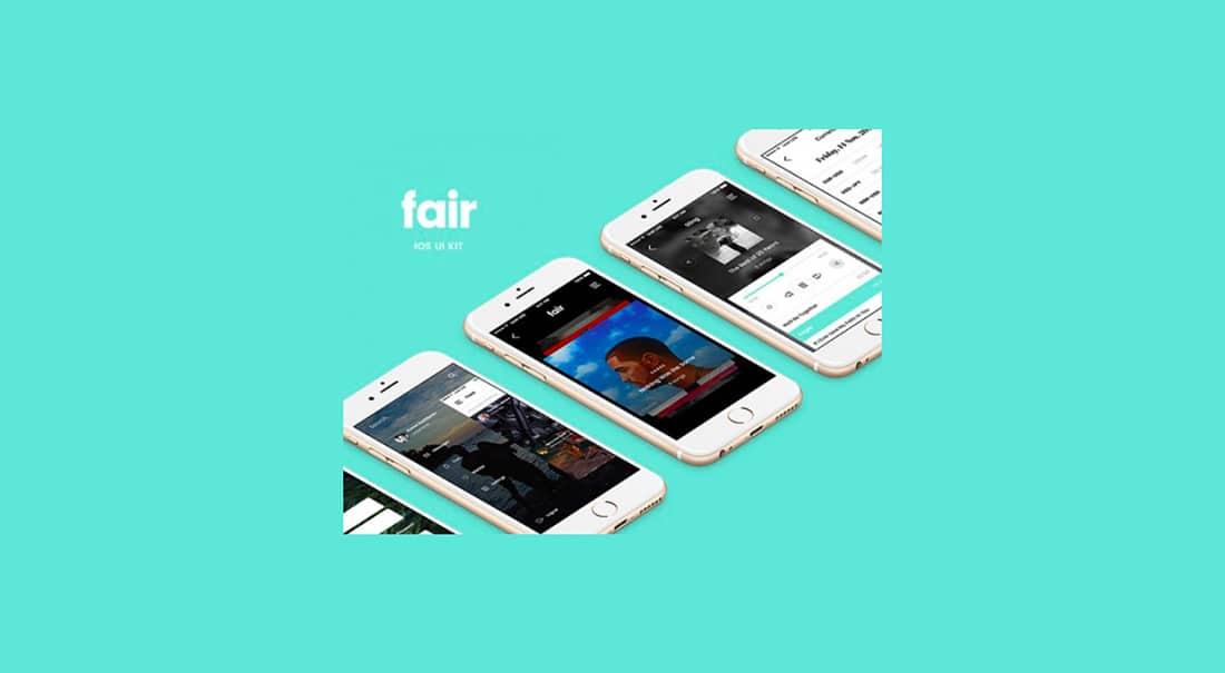 20 Fair Mobile UI Kit- 8 free app screens