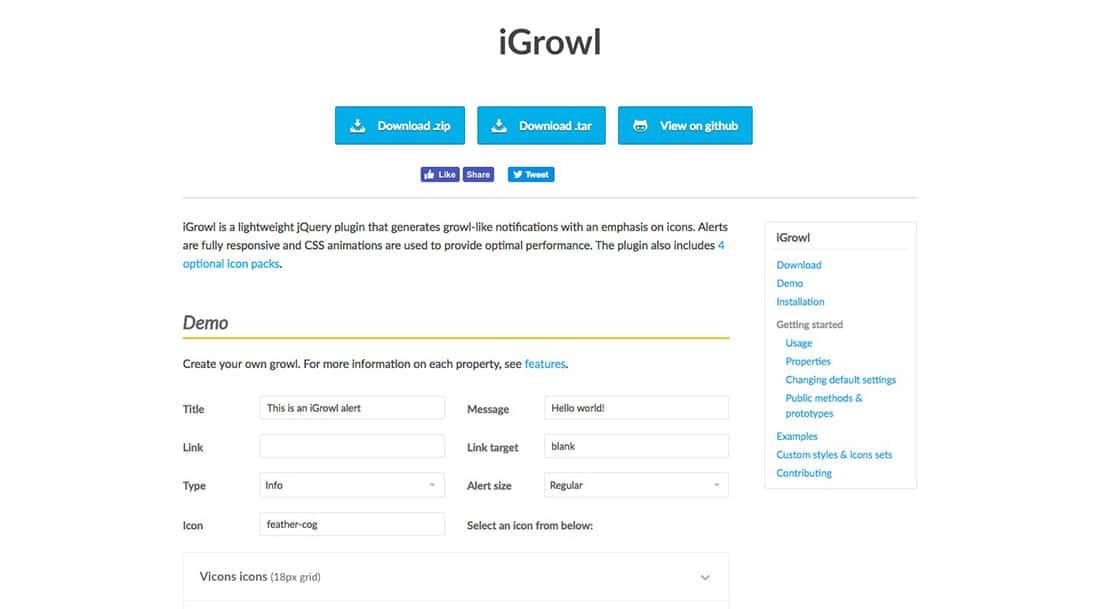 20 iGrowl.js