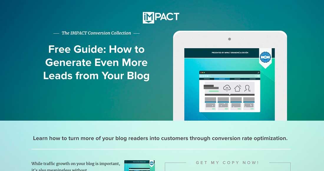 22 IMPACT Branding & Design Landing Page