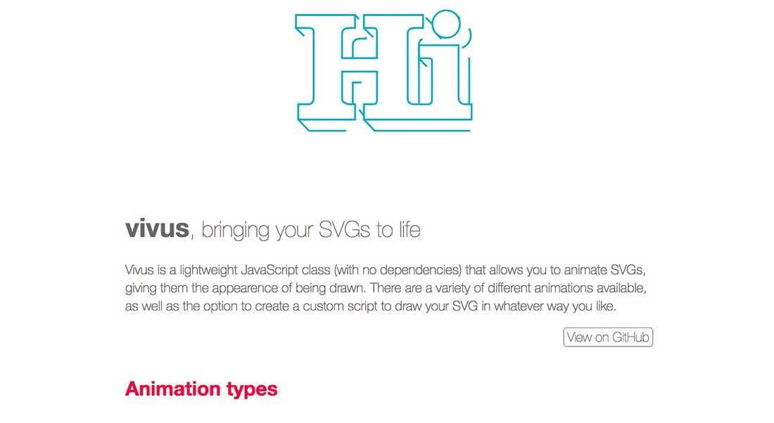 25 Vivus JavaScript Animation