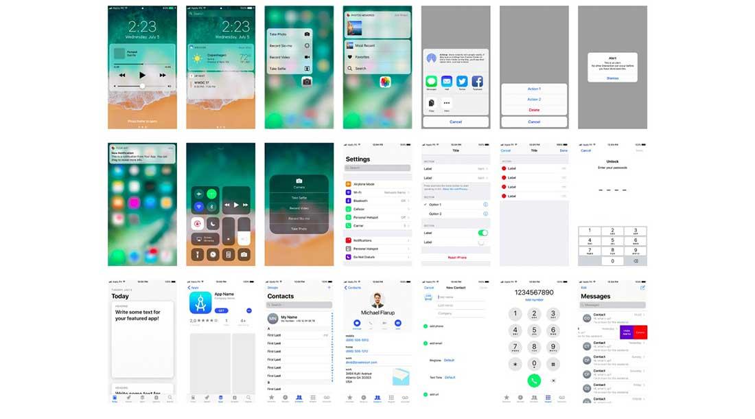 4 Free iOS 11 UI kit for Photoshop & Sketch