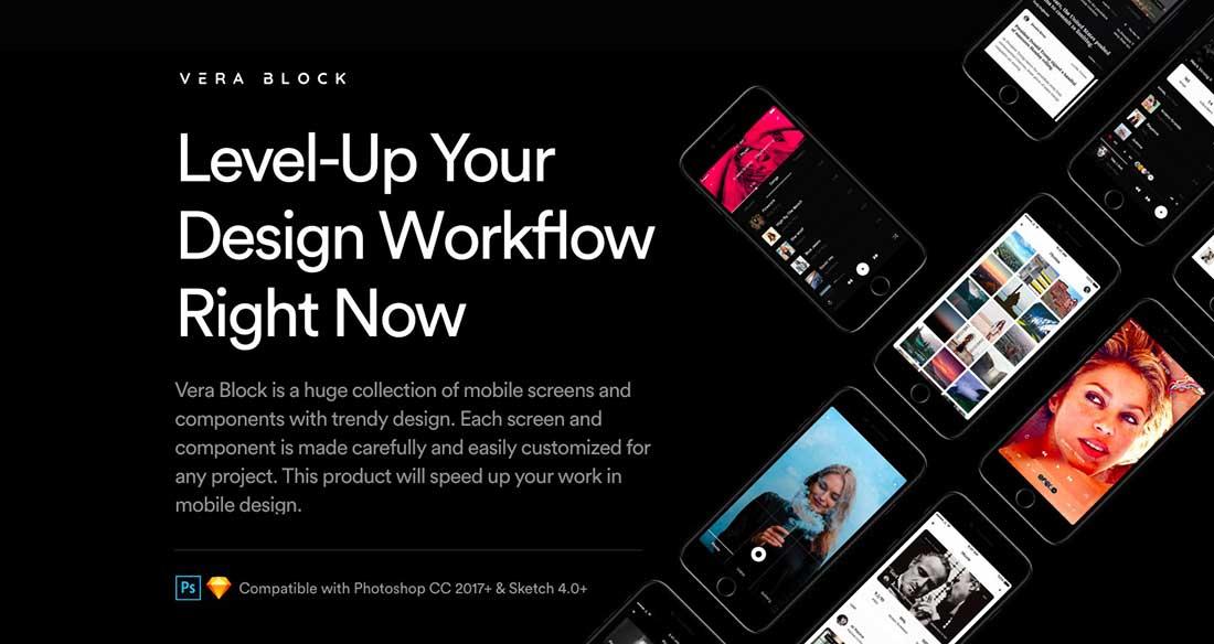 6 Vera Block- A huge set of UI components and app screens