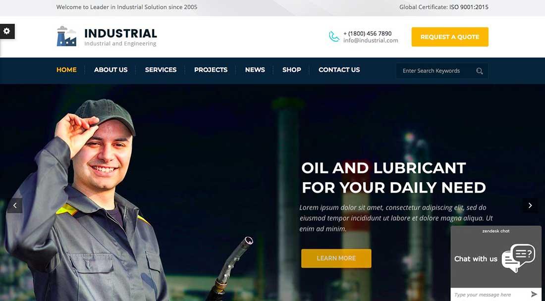 1 Industrial- Industry and Engineering WordPress Theme