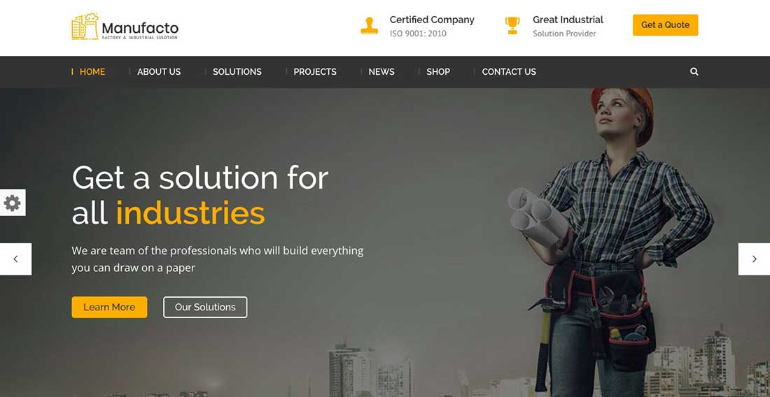 10 Manufacto Factory & Industrial WordPress Theme