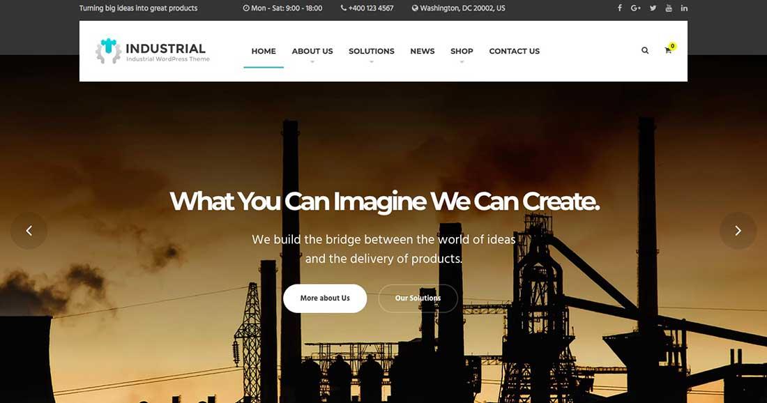 11 Industrial - Business, Industry WordPress Theme