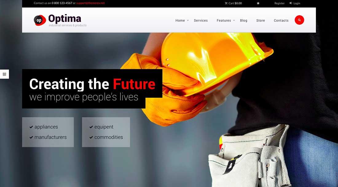 12 Optima | Industrial WordPress Theme