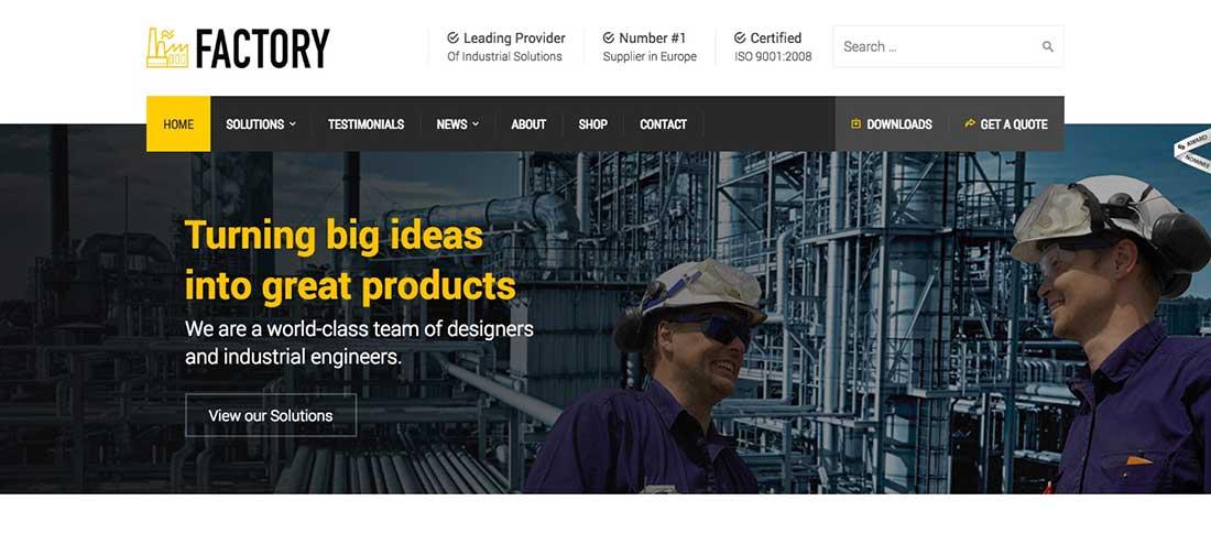 13 Factory - Industrial Business WordPress Theme