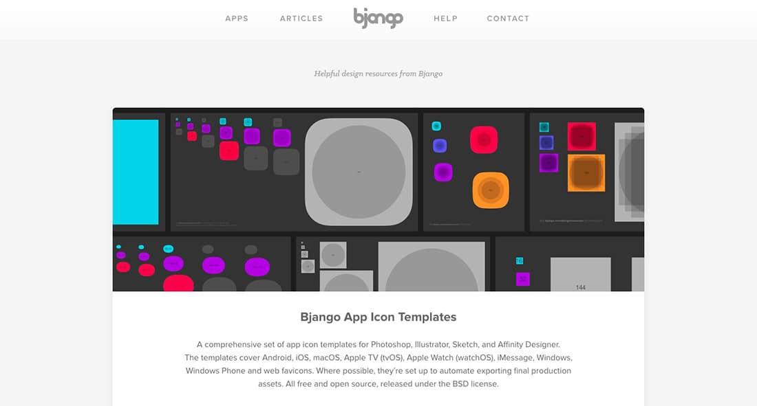 2 Bjango- A complete set of app icon templates