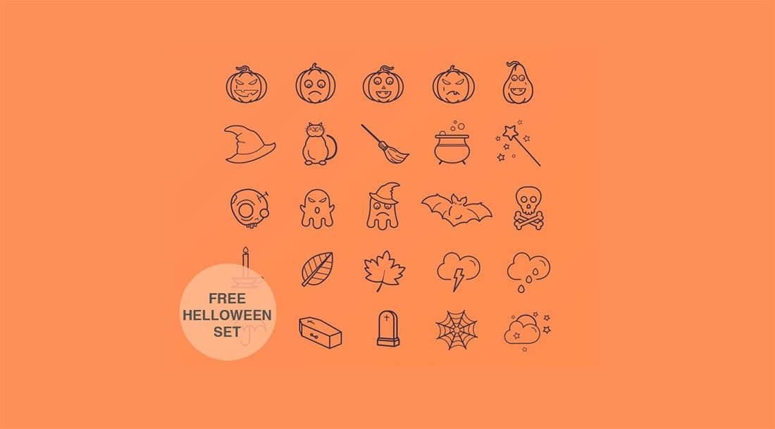 25 25 free Halloween icons