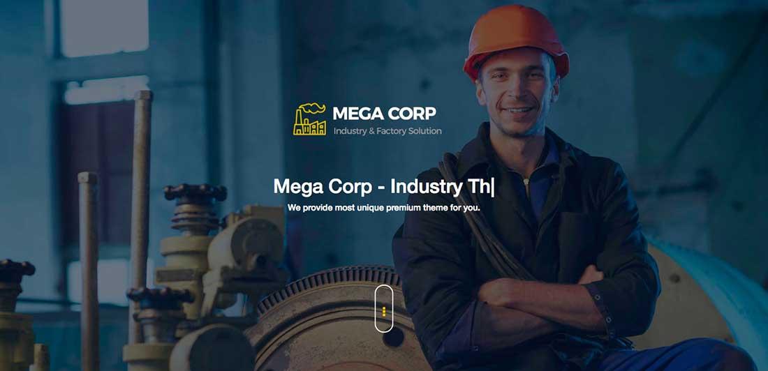 4 Industrial , Industry & Factory WordPress Theme - Mega Corp