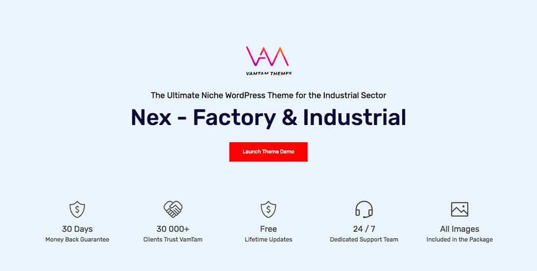 5 Nex - Factory & Industrial WordPress