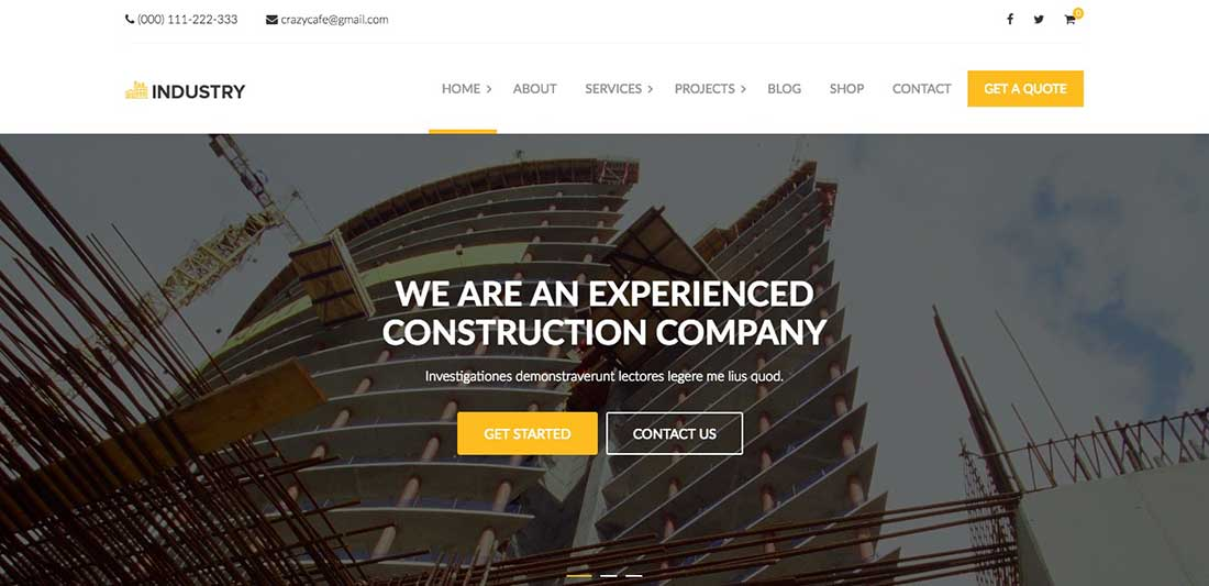 8 Industry - Industrial & Factory WordPress theme
