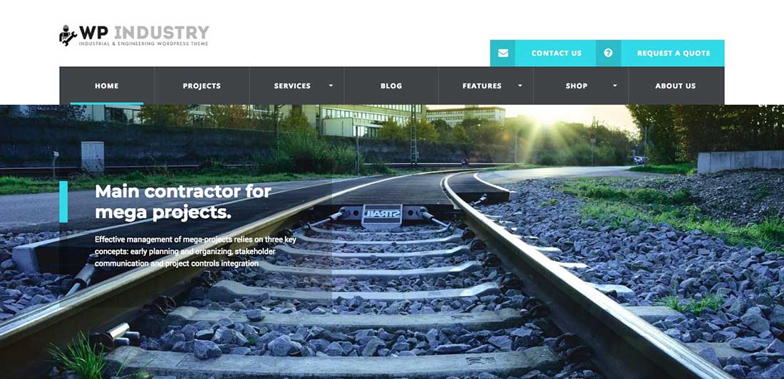 9 WP Industry - Industrial & Engineering WP theme