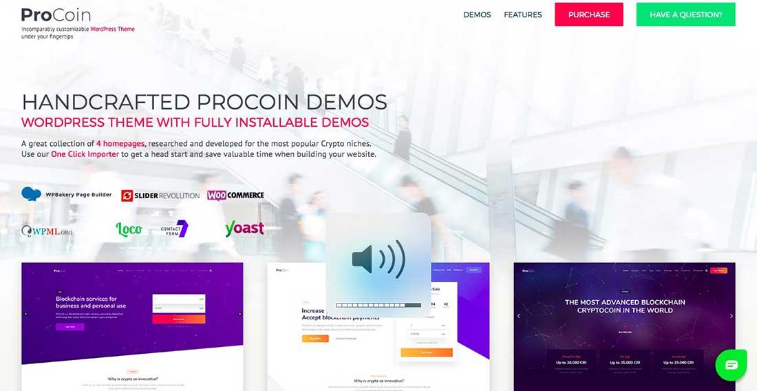 13 ProCoin - ICO & Cryptocurrency WordPress Theme